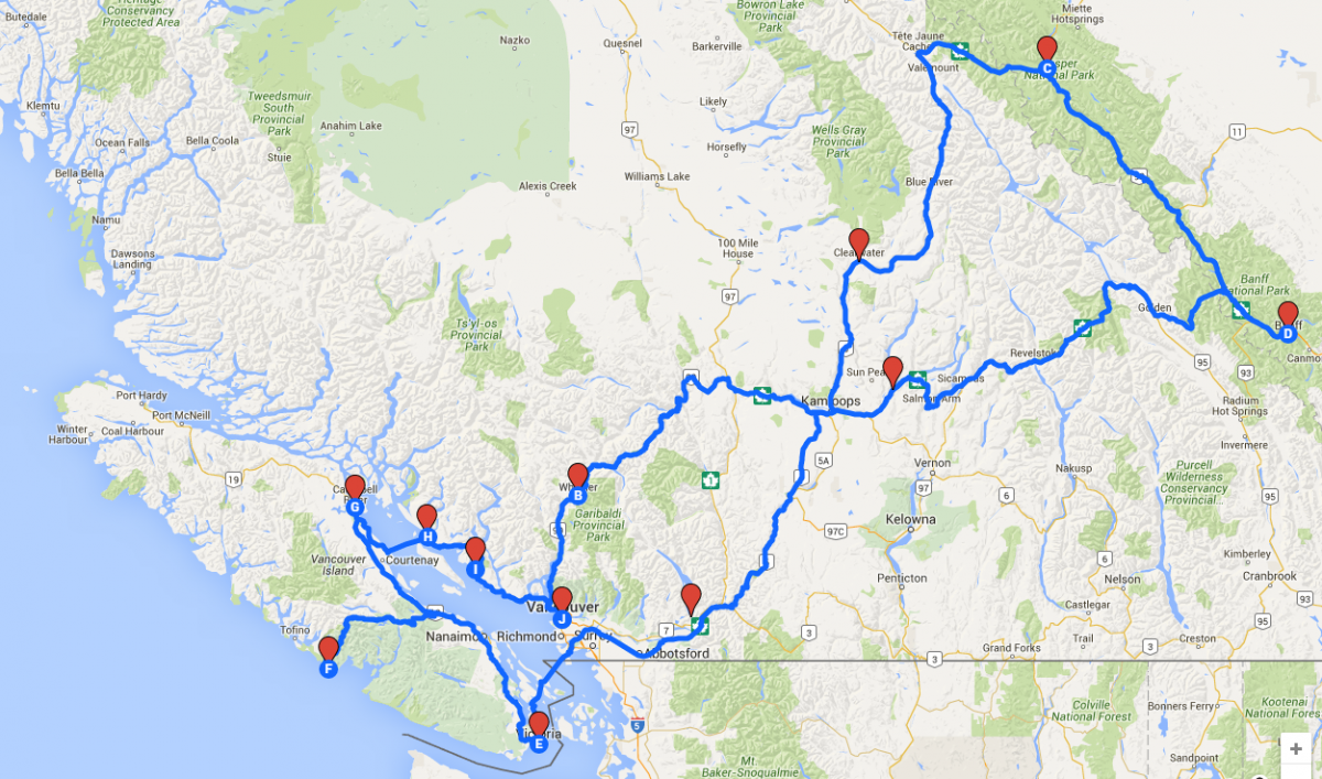 Route West-Canada 2016