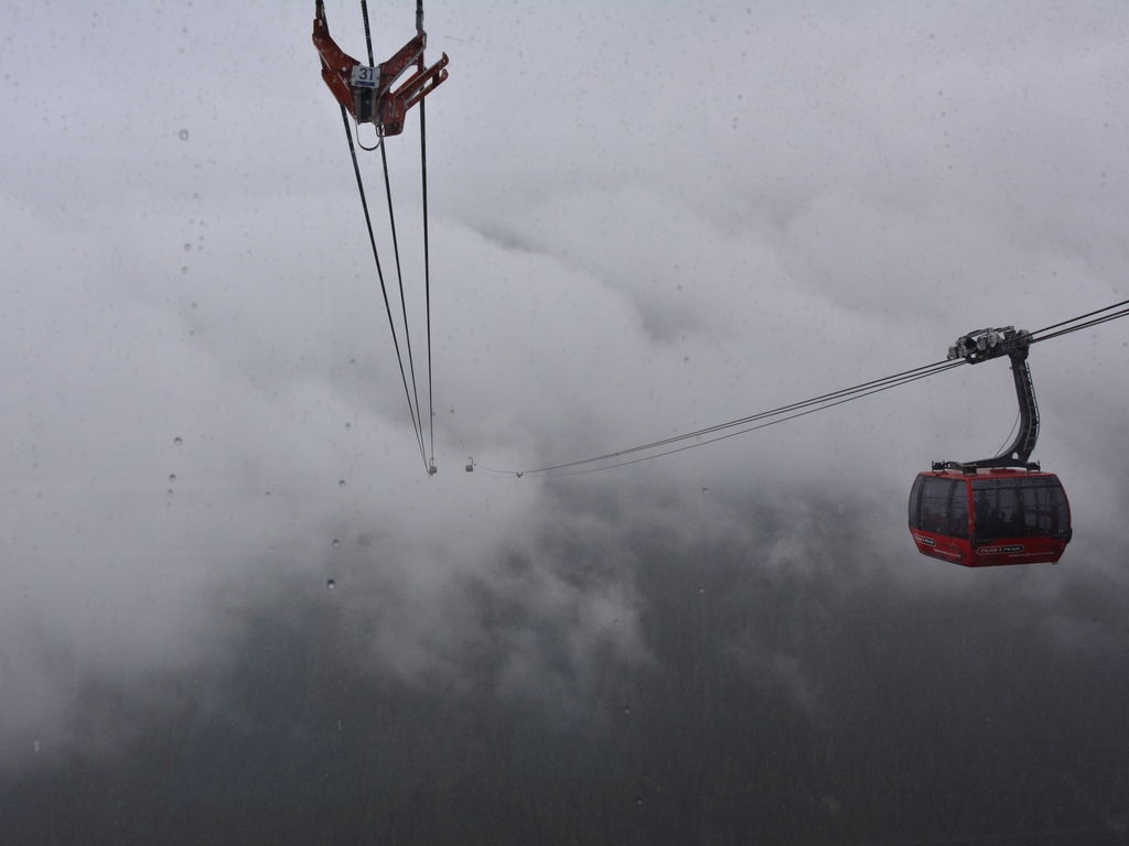 Whistler – Peak to Peak in de mist , 11 juli
